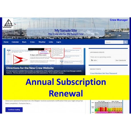 Annual Subscription Renewal