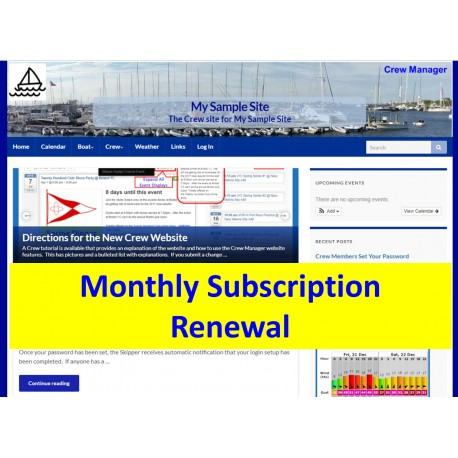 Monthly Subscription Renewal